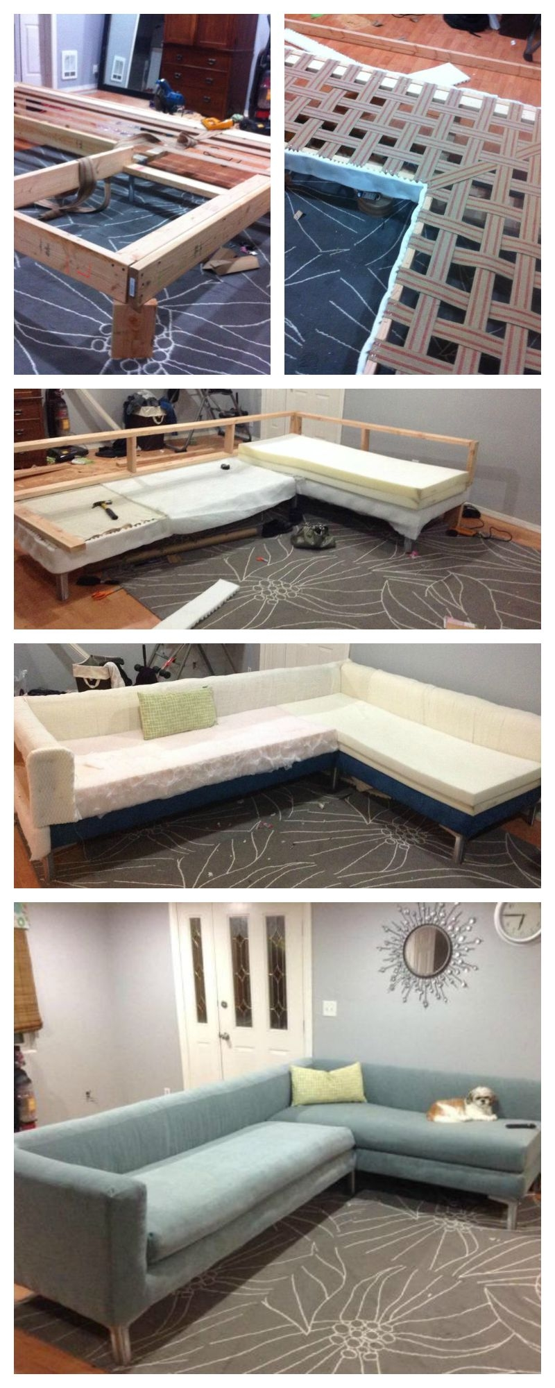 Build Your Own Sofa Or Couch Easy Diy 2×4 Frame Modern Style In Diy Sofa Frame (Image 5 of 15)