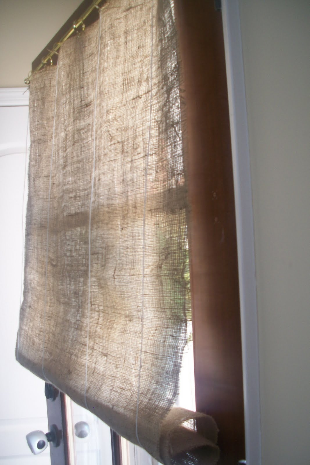 Burlap Curtains Design Ideas And Decor Regarding Hessian Curtains (Image 5 of 15)
