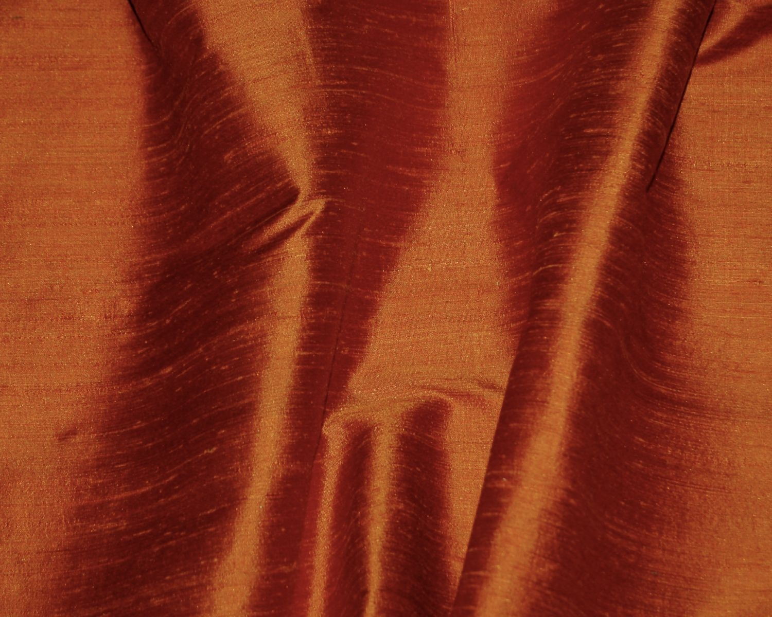 Burnt Orange Silk Dupioni Drapes Curtains Dreamdrapes For Orange Silk Curtains (Image 1 of 15)