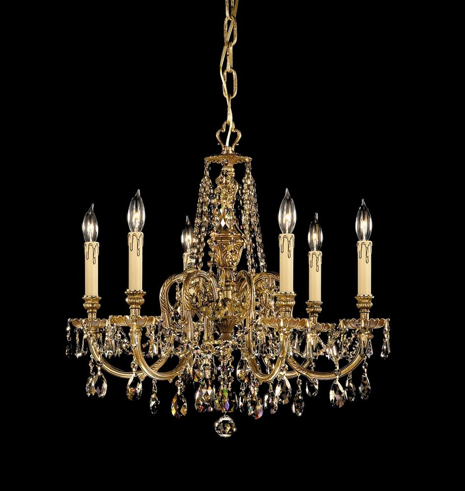 Buy 12 Lights Cast Brass Crystal Chandelier In Brass And Crystal Chandeliers (Image 6 of 15)