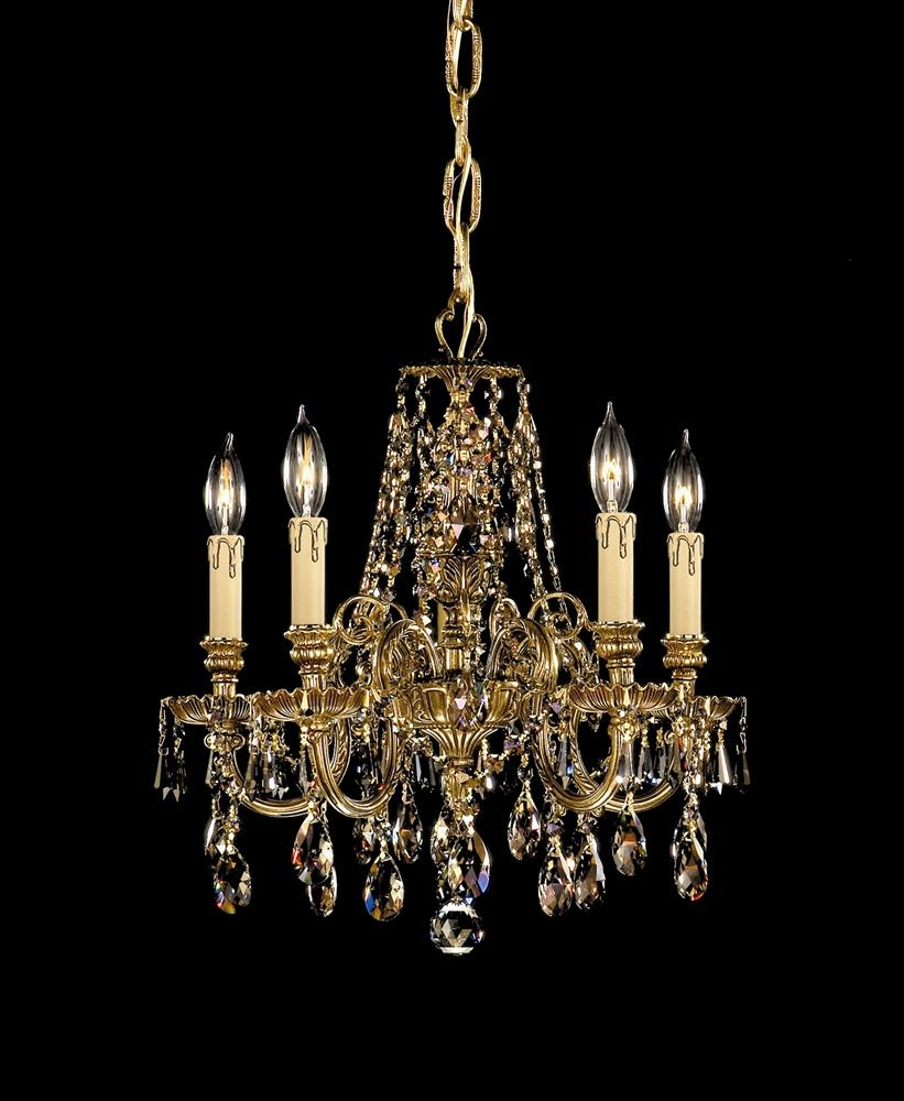 Buy 12 Lights Cast Brass Crystal Chandelier With Regard To Brass And Crystal Chandeliers (Image 8 of 15)