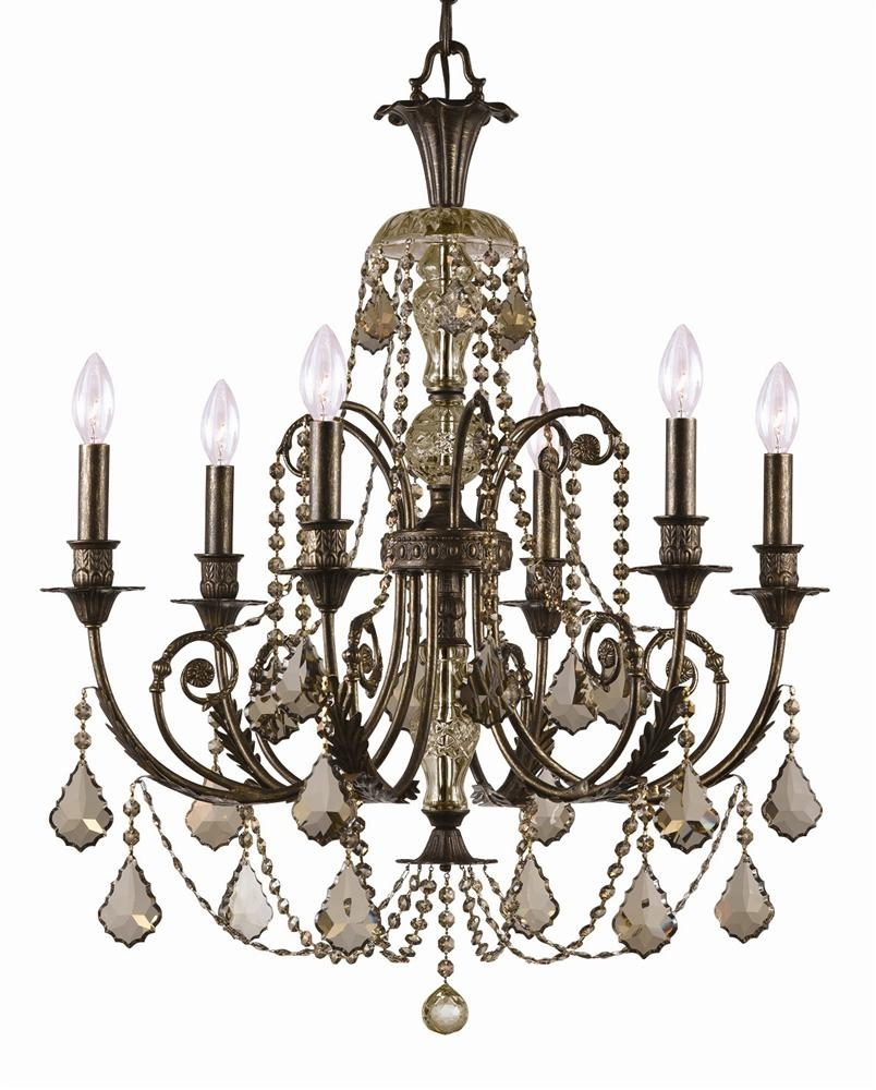 Buy 20 Lights English Bronze Crystal Chandelier Within Bronze And Crystal Chandeliers (View 6 of 15)