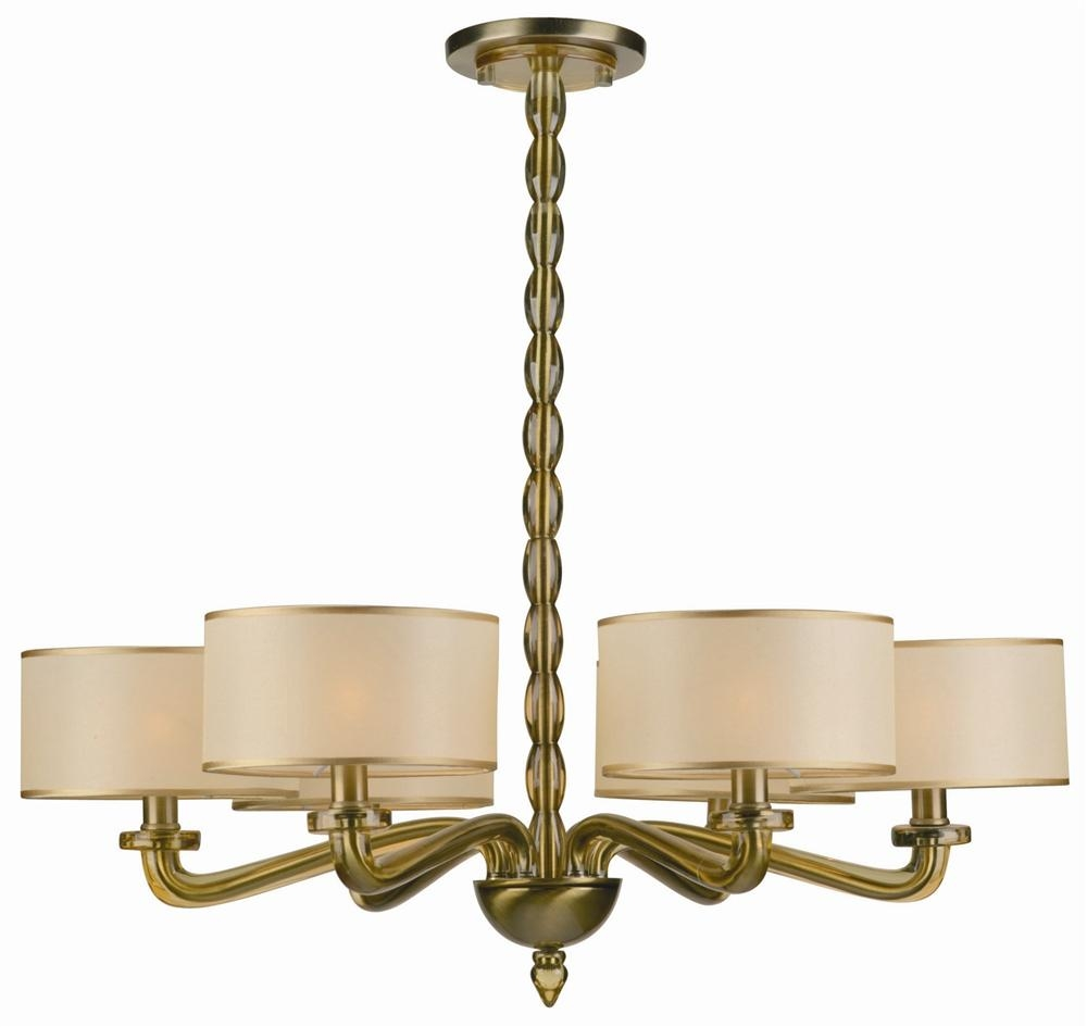 Buy 8 Lights Antique Brass Chandelier Accented W Crystal Within Old Brass Chandelier (Image 9 of 15)