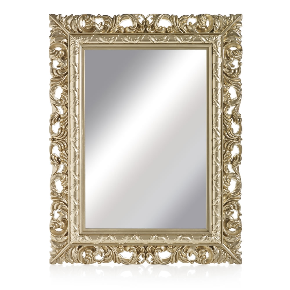 Buy Antique White Ornate Mirror Mirrors The Range Home For Ornate Mirrors (Image 2 of 15)