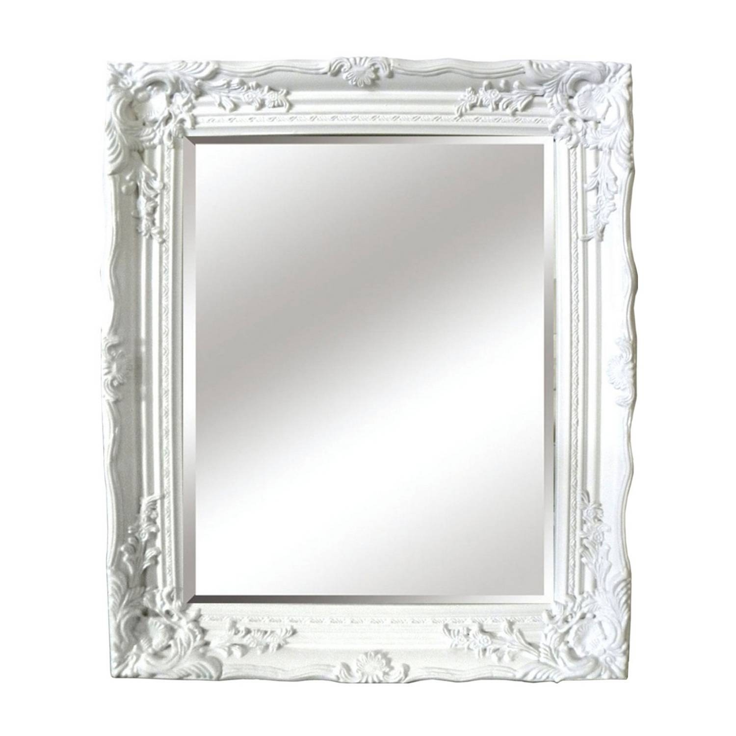 Buy Antique White Ornate Mirror Mirrors The Range Home Within White Antique Mirror (Image 4 of 15)