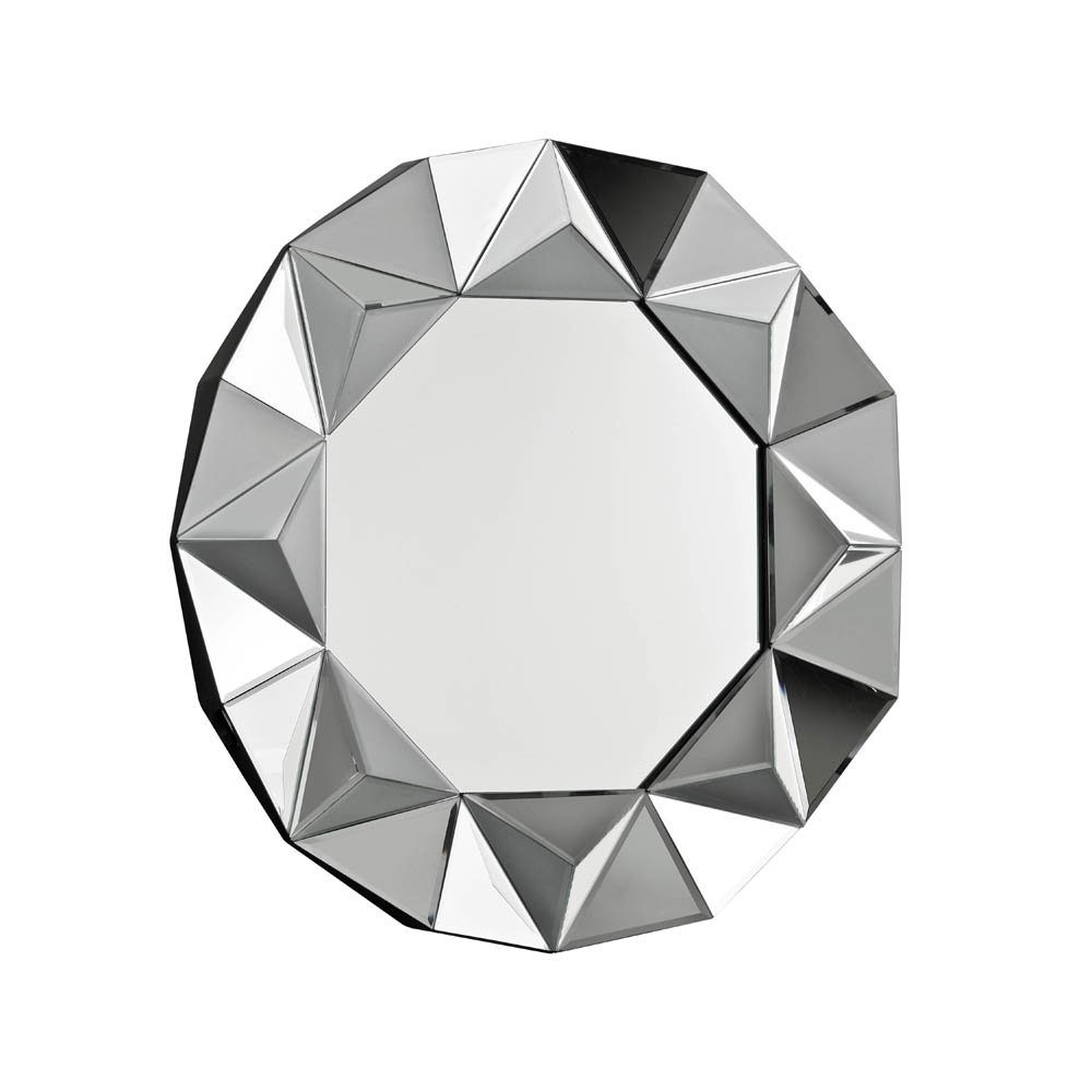 Buy Circular Art Deco Mirror Buy Art Deco Style Round Wall Mirror Within Art Deco Style Mirror (Image 9 of 15)