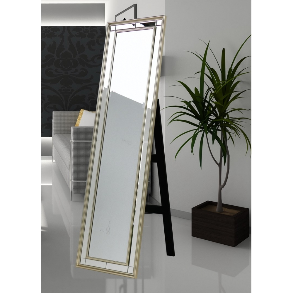 Buy Ebony Champagne Free Standing Dress Mirror Regarding Dress Mirrors Free Standing (Image 8 of 15)