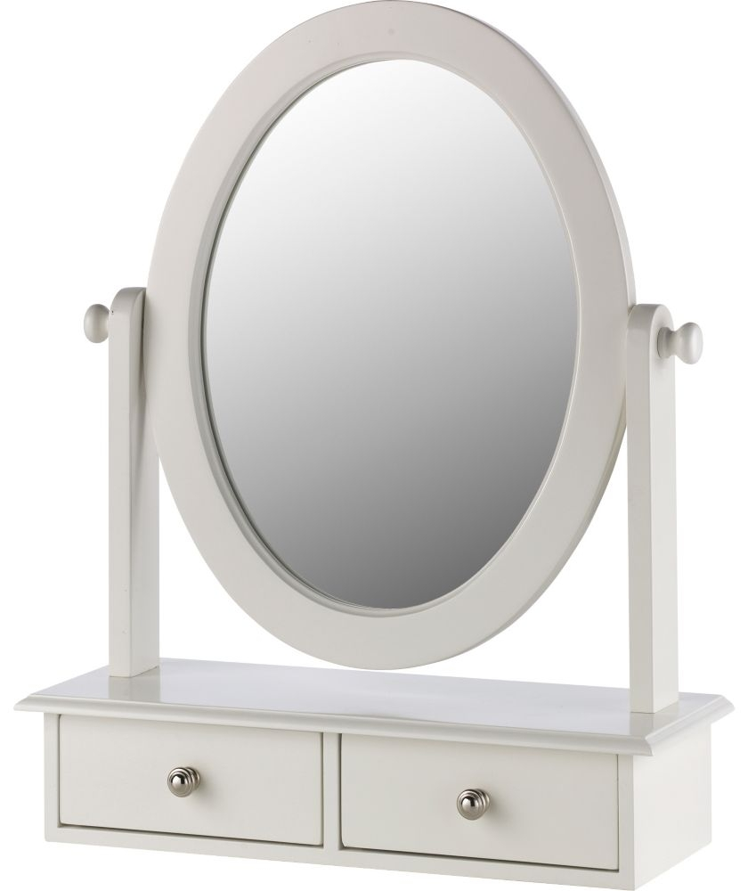 Buy Heart Of House Colette Dressing Mirror With Drawer White At With Mirror On Stand For Dressing Table (Image 1 of 15)