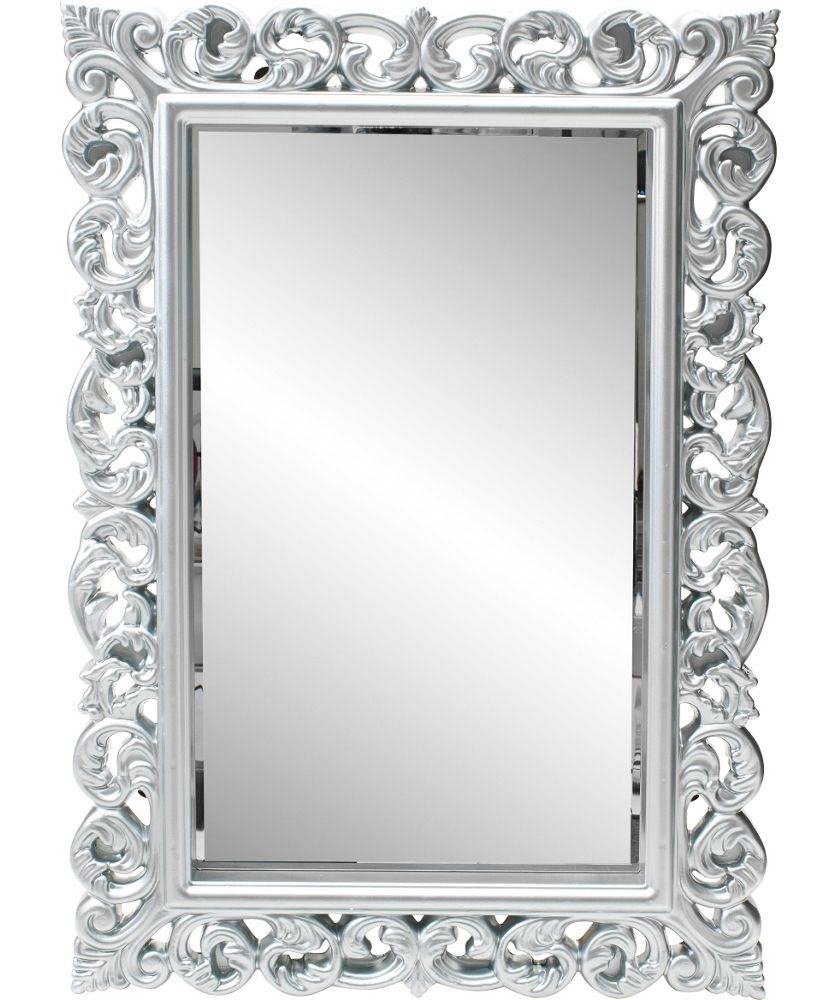 Buy Heart Of House Isabella High Gloss Wall Mirror Silver At Regarding Mirror Online Shop (Image 7 of 15)