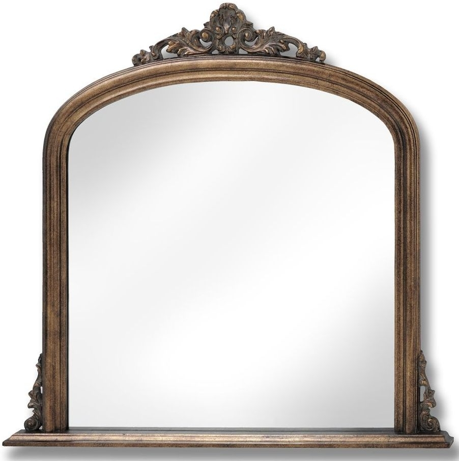 Buy Hill Interiors Antique Gold Overmantle Mirror Online Cfs Uk Inside Over Mantle Mirror (Image 3 of 15)