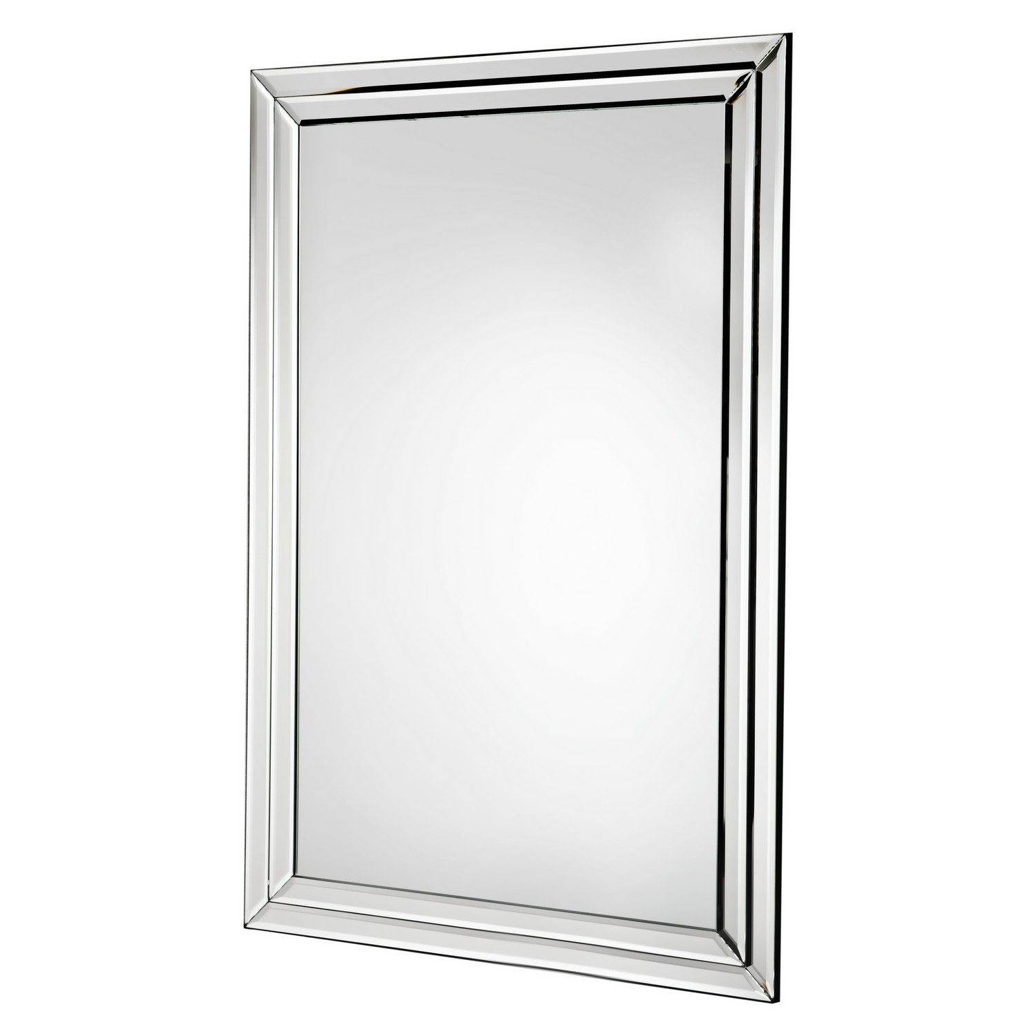 Buy Living Bevelled Glass Edge Wall Mirror Silver At Argoscouk Throughout Bevelled Glass Mirror (Image 7 of 15)