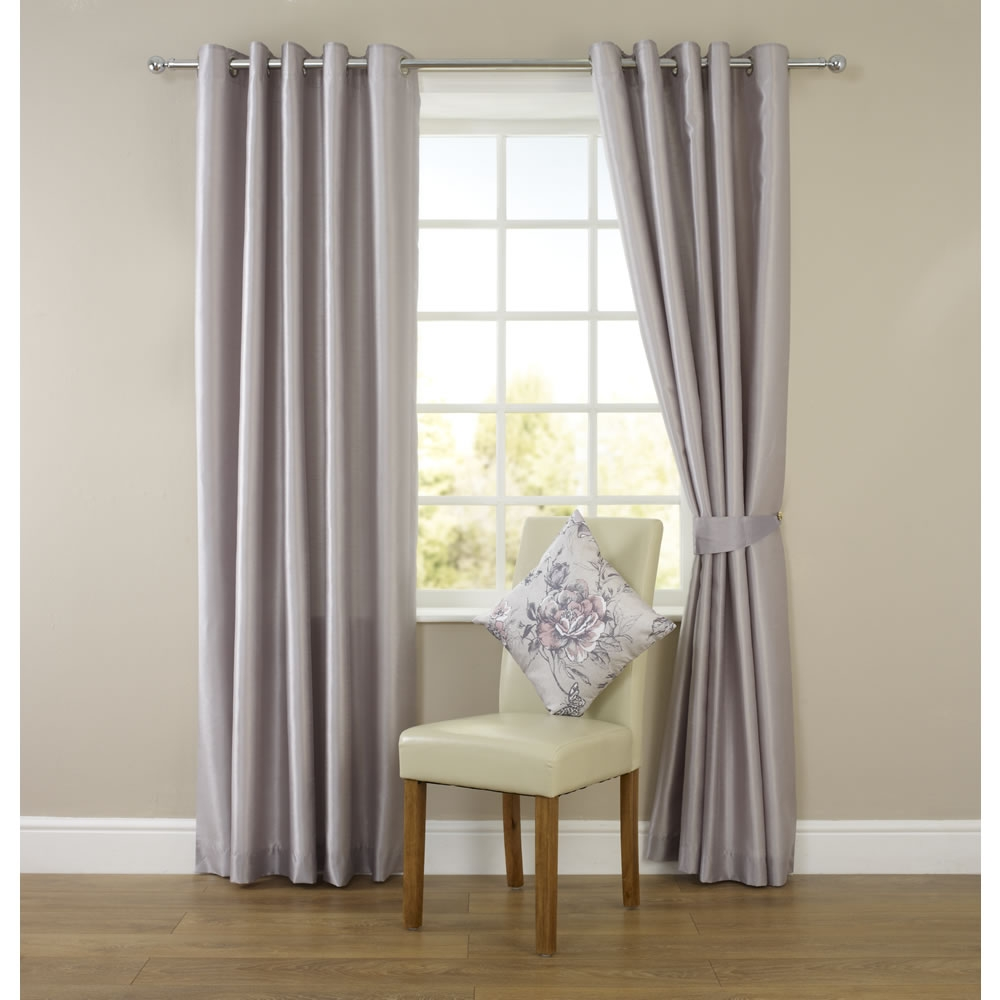 Buy Plum Delicate Floral Print Eyelet Curtains From The Next Uk Intended For Double Lined Curtains (Image 1 of 15)