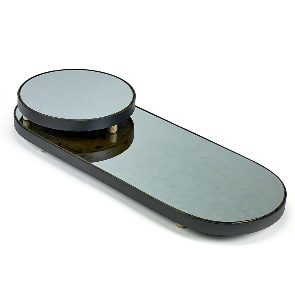 Buy Serax Studio Simple Long Oval Mirror Tray Black Amara Inside Long Oval Mirror (Image 6 of 15)