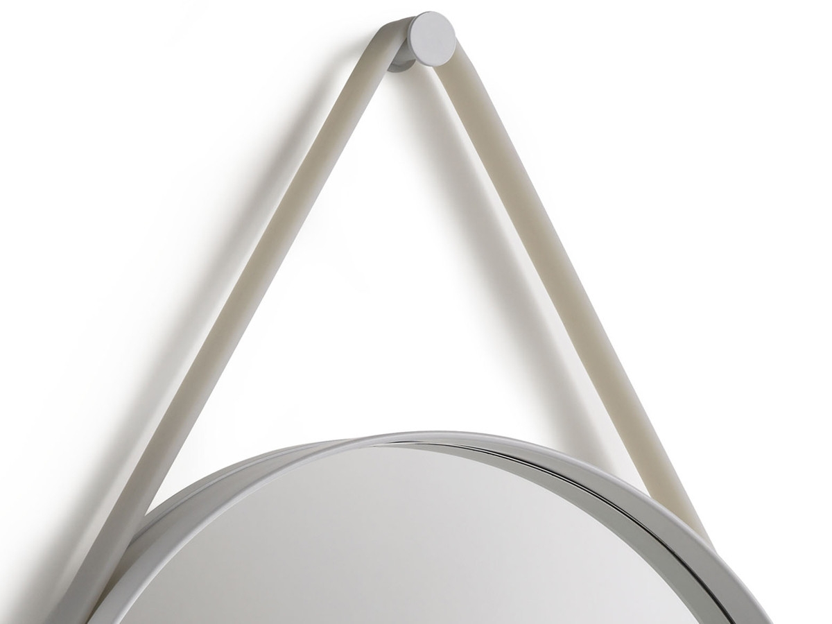 Buy The Hay Strap Mirror Grey At Nestcouk With Regard To Buy A Mirror (Image 7 of 15)
