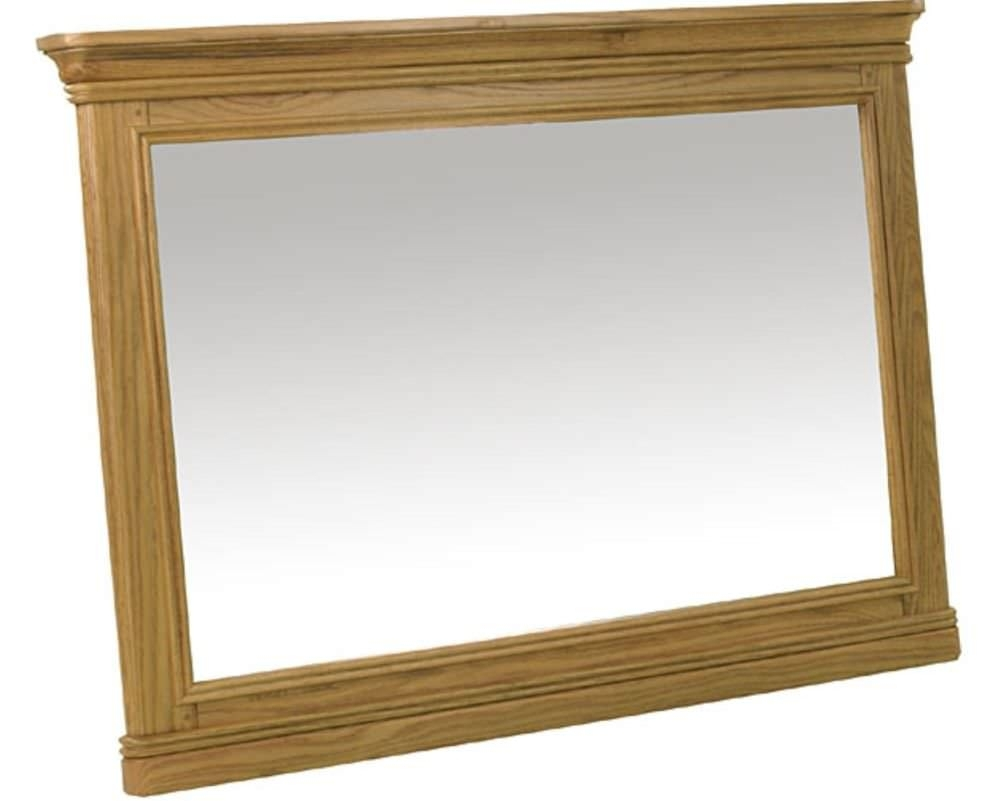 Buy Treville Oak Mirror Large Online Cfs Uk With Oak Mirror (Image 3 of 15)
