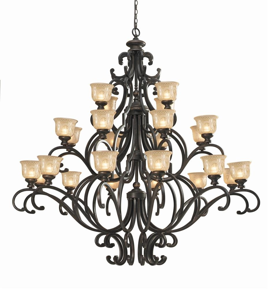Buy Wrought Iron Chandelier W Hand Polished Crystal Regarding Wrought Iron Chandeliers (Image 3 of 15)