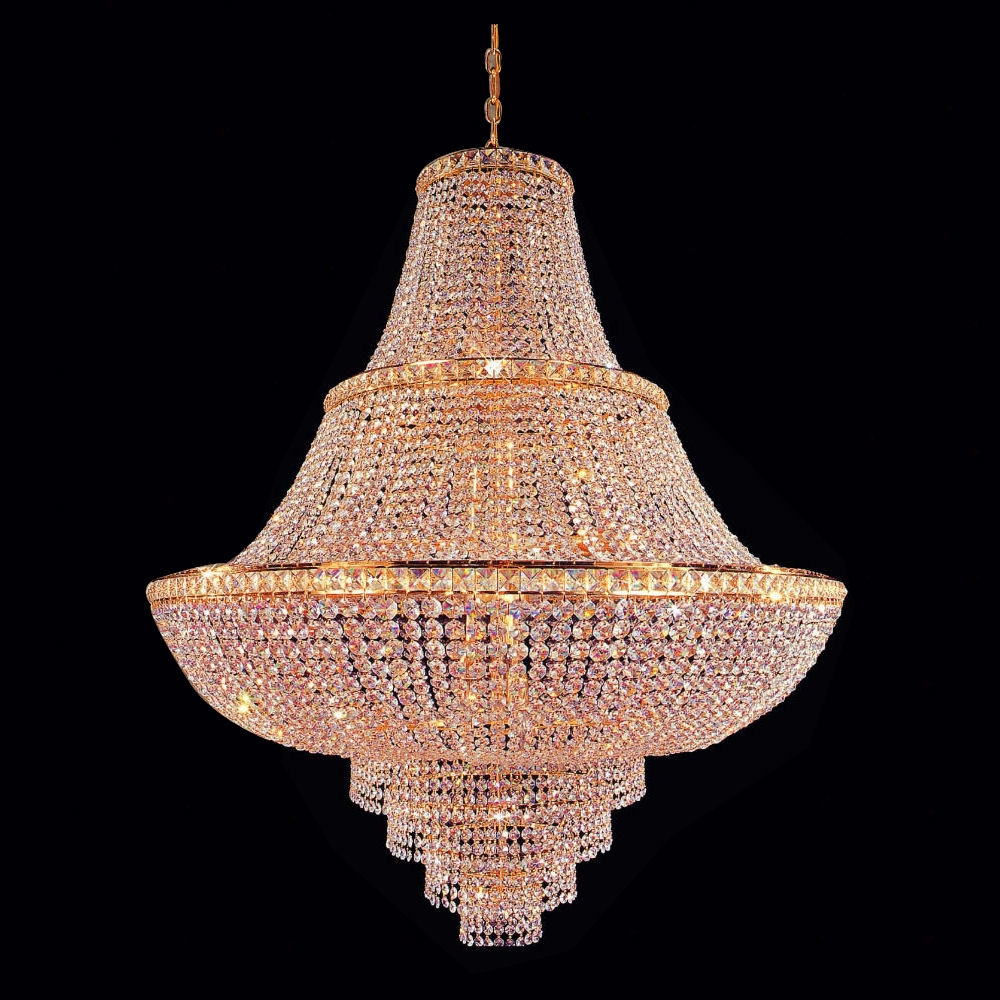 C181 710040gold Gallery Empire Style C181 710040 Light Fixture For Crystal Gold Chandelier (Image 5 of 15)
