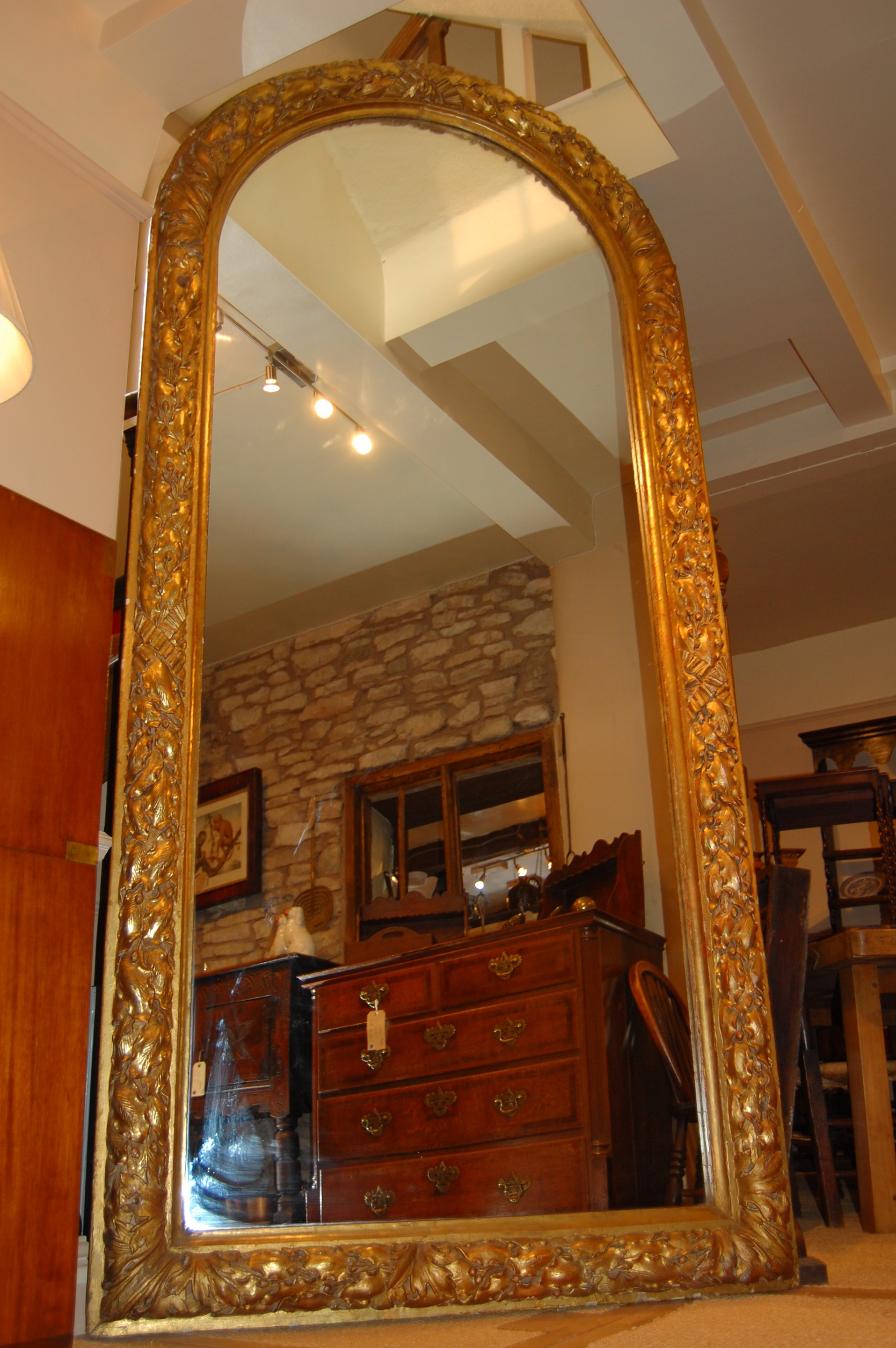 C19th Large Gilt Mirror C 1860 England From G D Ginger Antiques With Large Gilt Mirrors (Image 4 of 15)