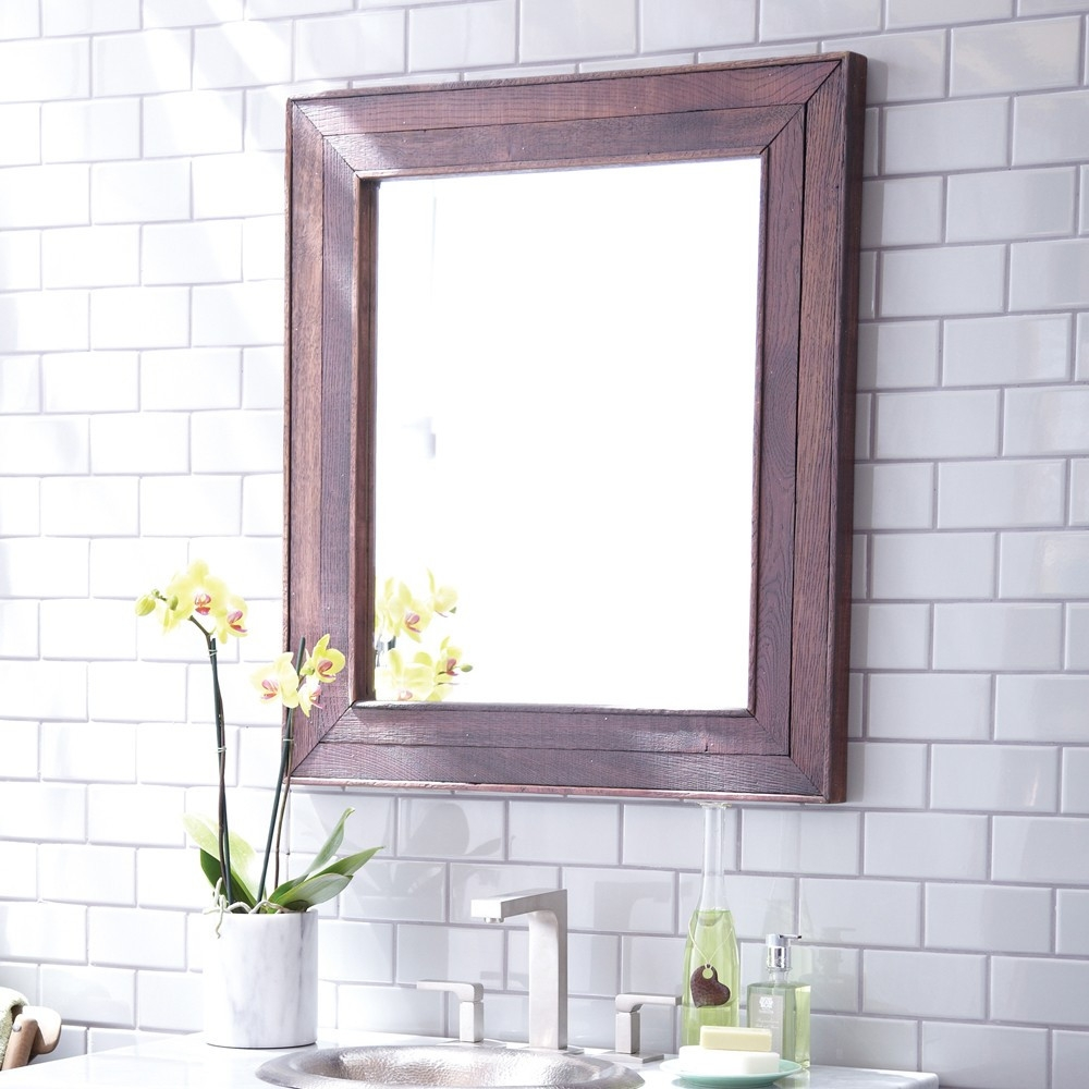 Cabernet Reclaimed Oak Framed Wall Mirror Mr134 Native Trails Pertaining To Oak Framed Wall Mirrors (Image 2 of 15)