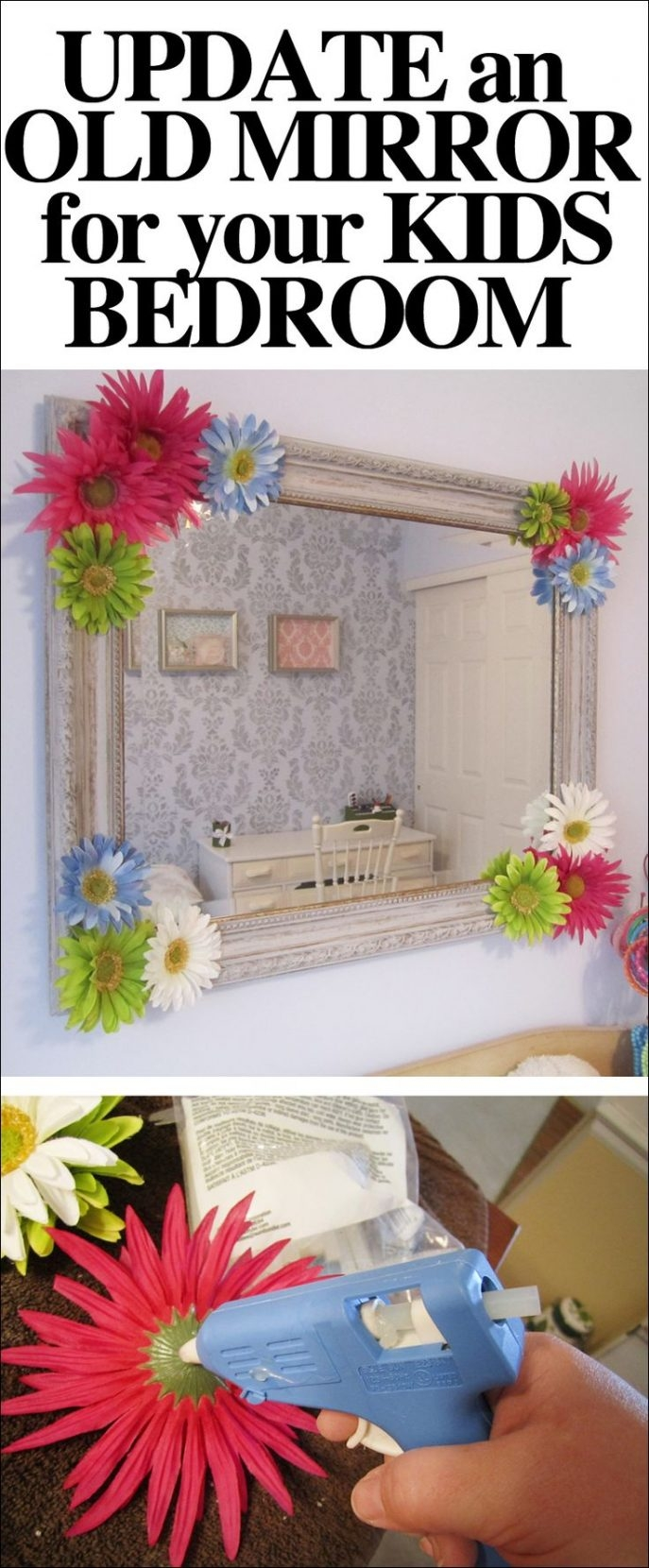 Calm Mirror Framed Mirror Tags Images Kids Room Mirrors Marvel Pertaining To Embellished Mirrors (Image 4 of 15)