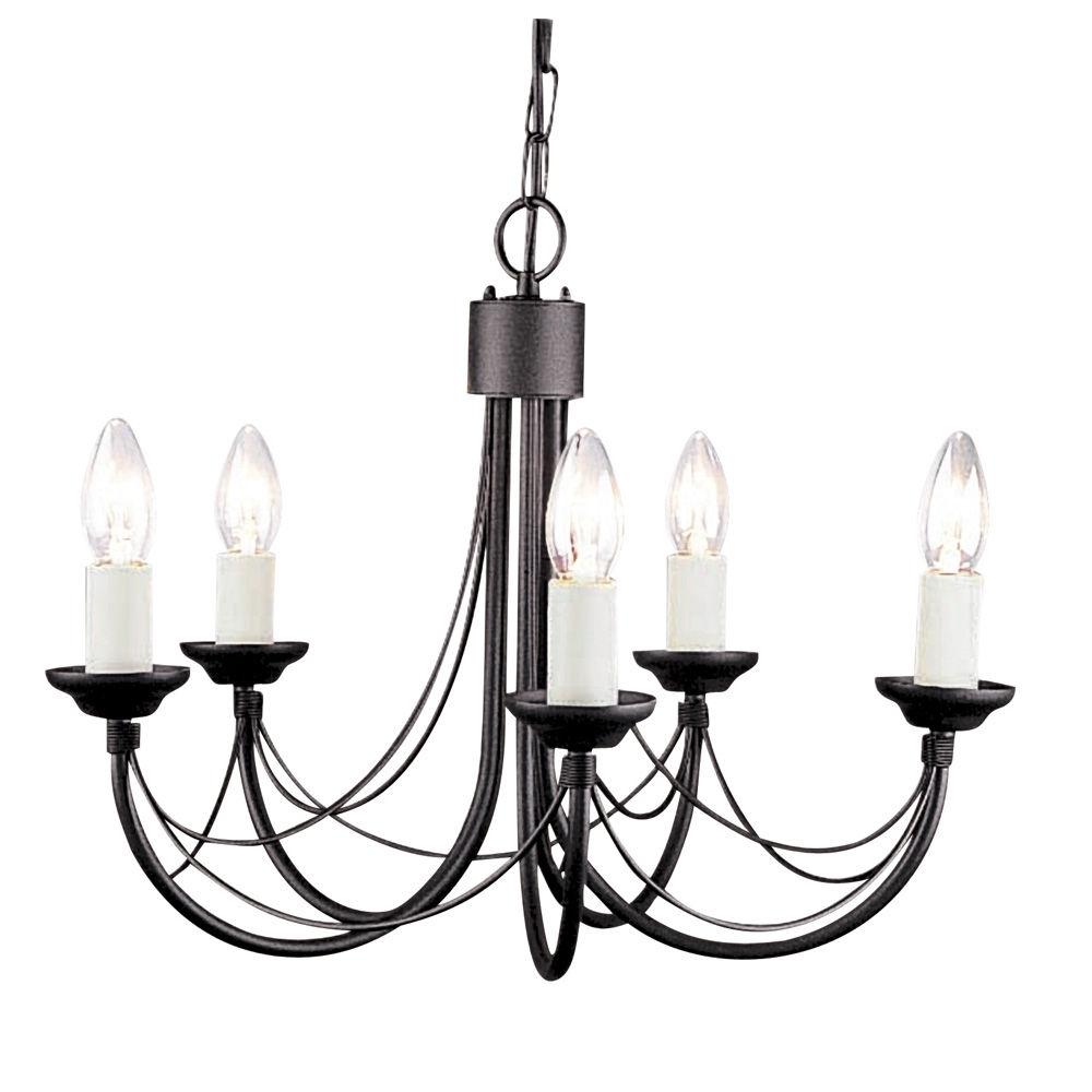 Candelabra Style Gothic Chandelier Inside Black Gothic Chandelier (Image 6 of 15)