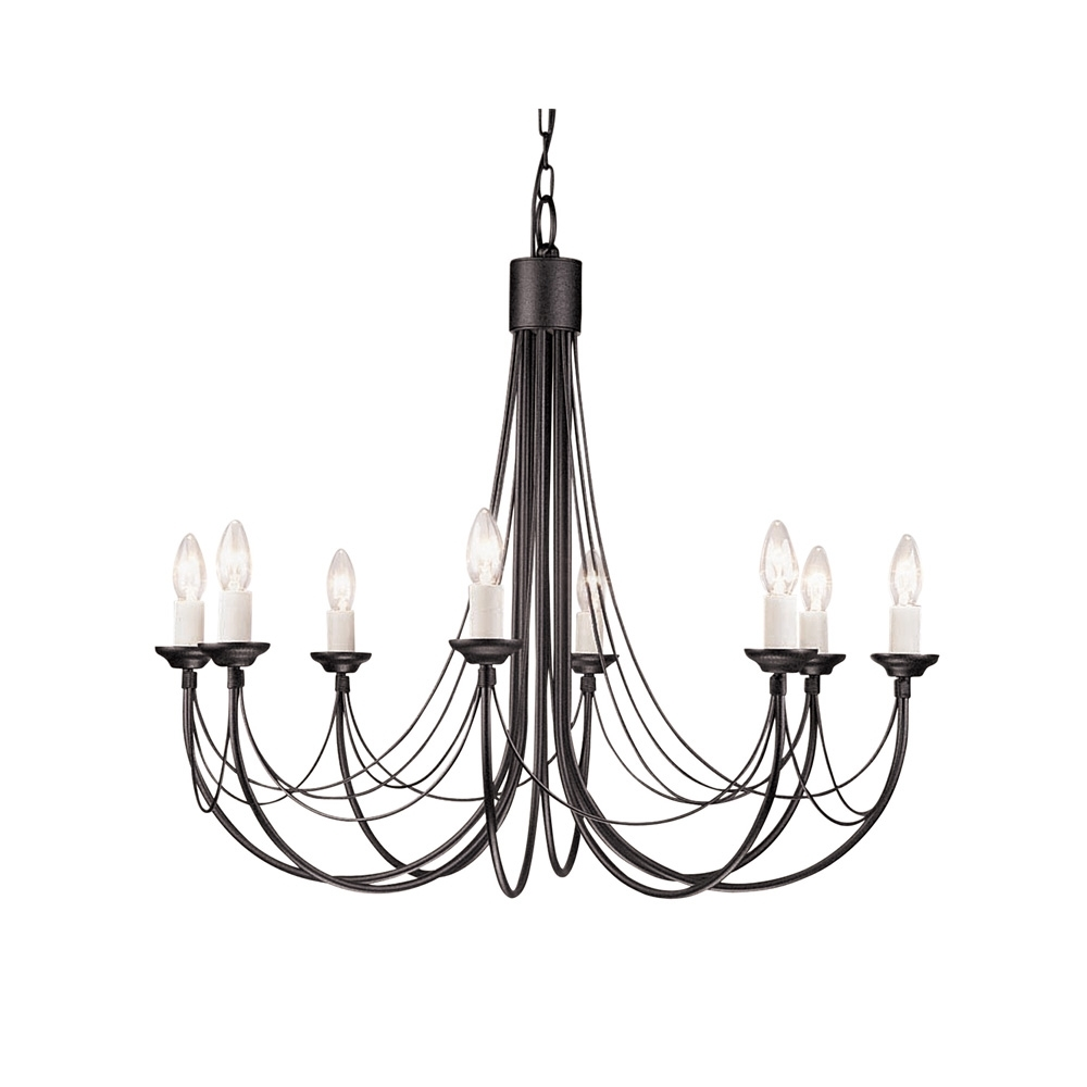 Candelabra Style Gothic Chandelier Pertaining To Black Gothic Chandelier (Image 7 of 15)
