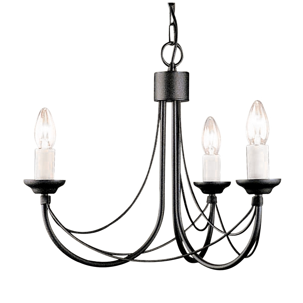 Candelabra Style Gothic Chandelier Regarding Black Gothic Chandelier (Image 8 of 15)