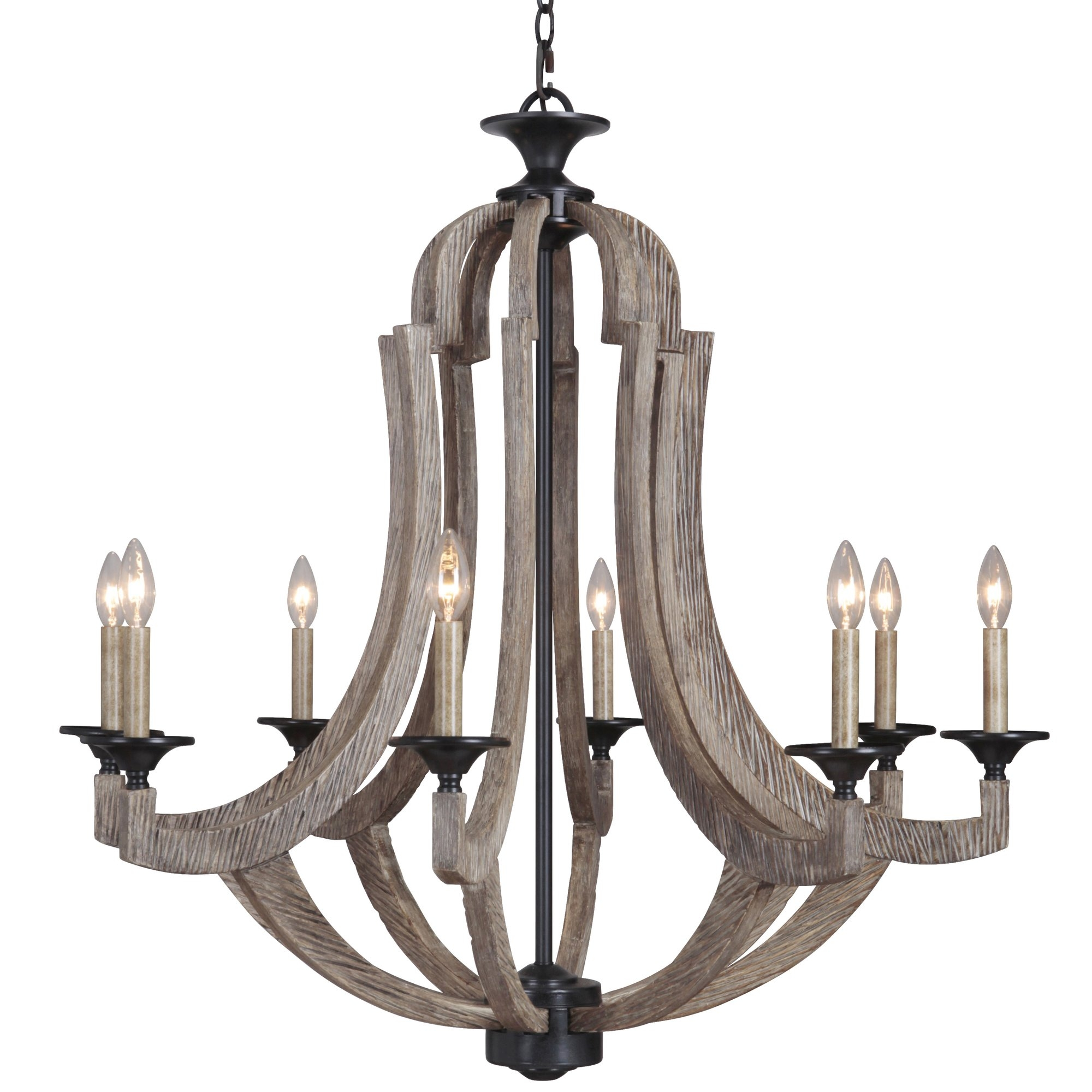 Candle Chandeliers Youll Love Wayfair Regarding Candle Light Chandelier (Image 2 of 15)