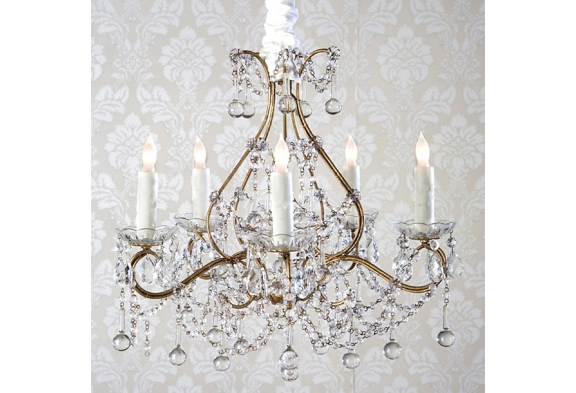 Candle Holder Chandelier Shab Chic In Shabby Chic Chandeliers (View 6 of 15)