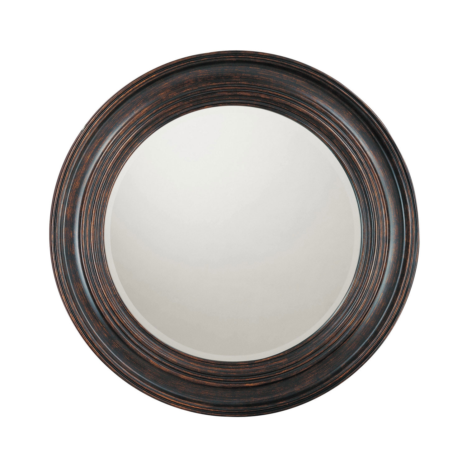 Capital Lighting Fixture Company Distressed Black Round Mirror Intended For Black Circle Mirrors (Image 3 of 15)