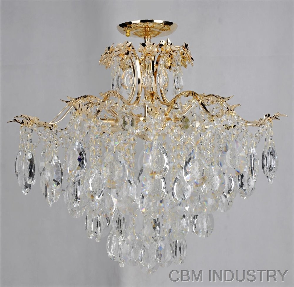 Ceiling Fan Chandelier Combo Lighting Ceiling Fan Chandelier Regarding Chandeliers For Low Ceilings (Image 3 of 15)