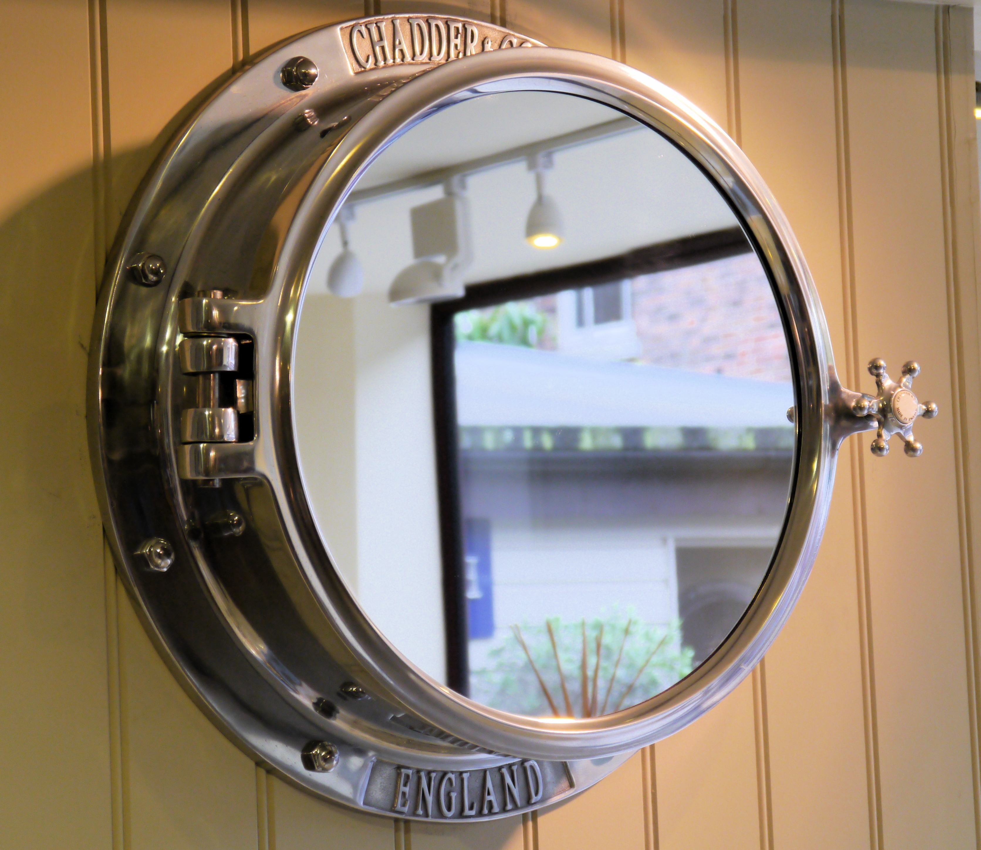 Chadder Counique Porthole Mirror Cabinet Luxury Porthole With Round Porthole Mirror (Image 4 of 15)