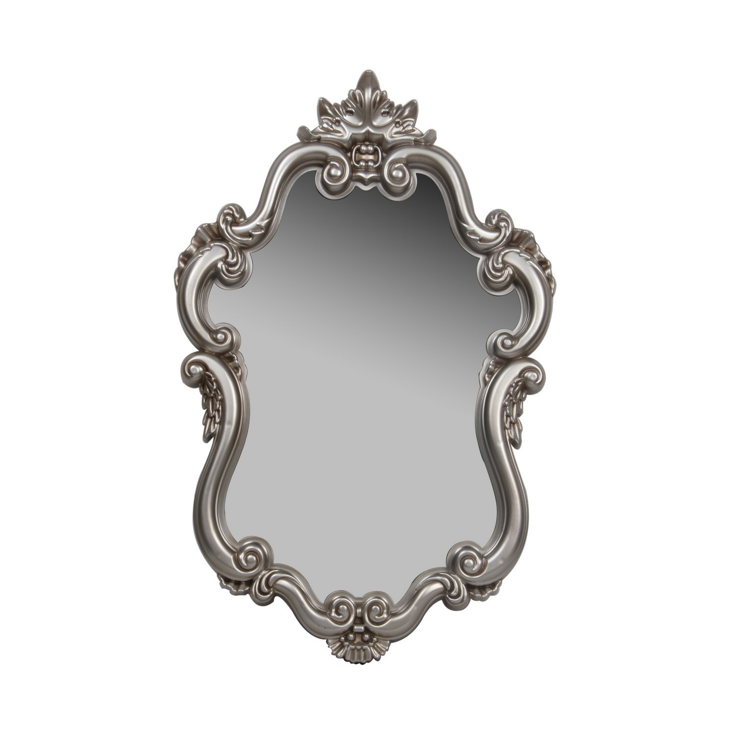 Champagne Baroque Mirror Intended For Baroque Mirror (Image 8 of 15)