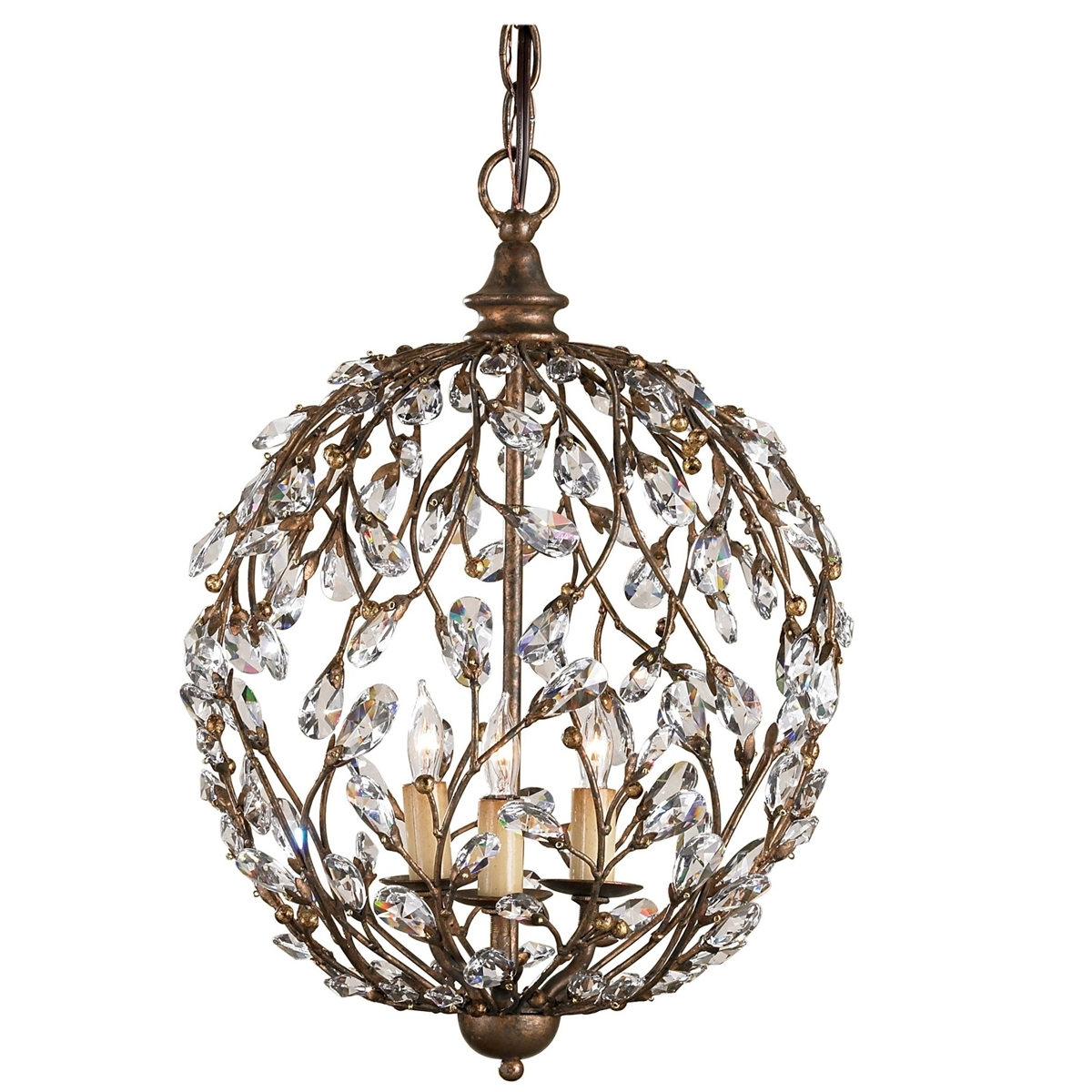 Chandelier Amazing Crystal Globe Chandelier Large Crystal With Globe Crystal Chandelier (Image 2 of 15)