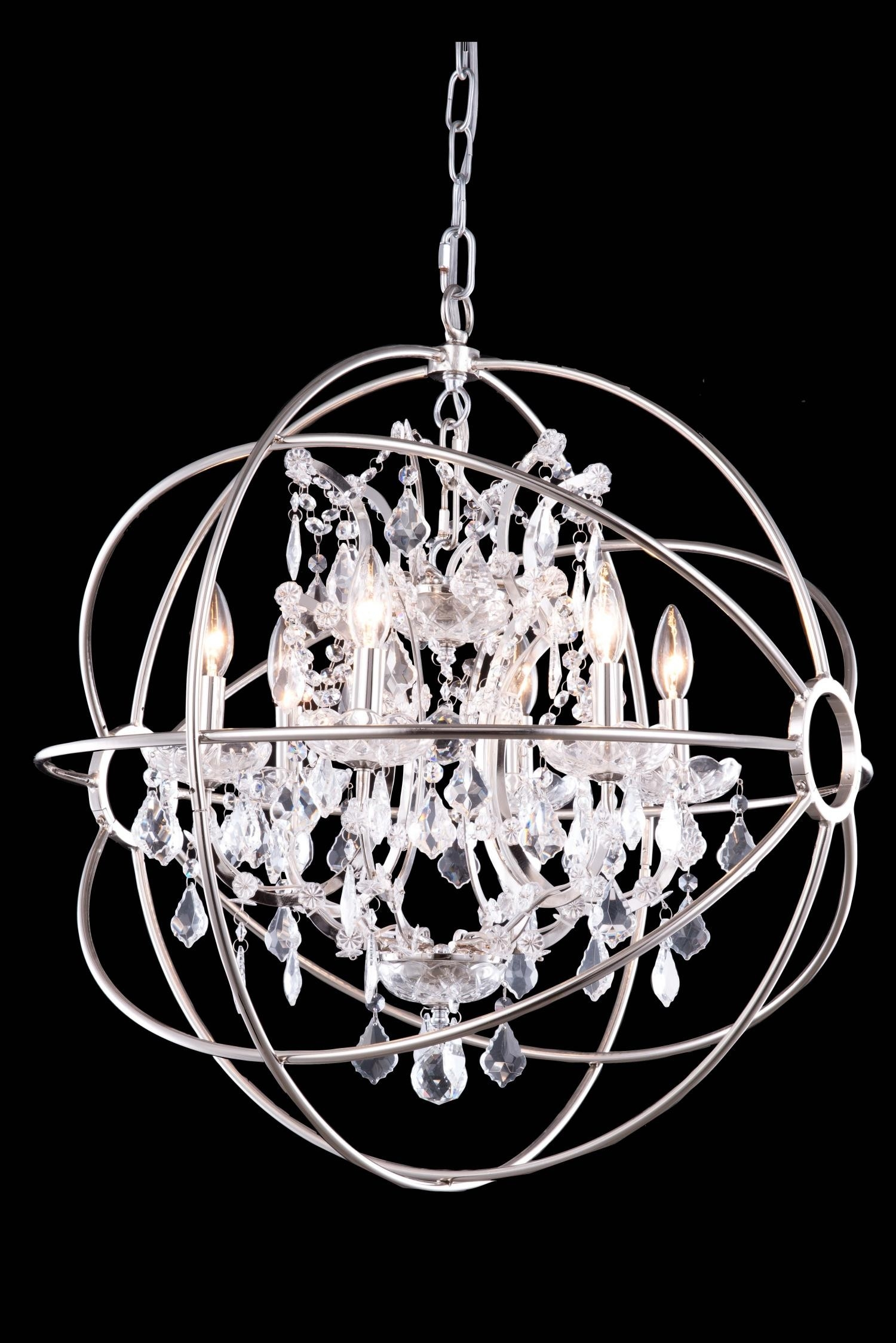 Chandelier Amazing Crystal Globe Chandelier Large Crystal With Regard To Globe Crystal Chandelier (Image 3 of 15)