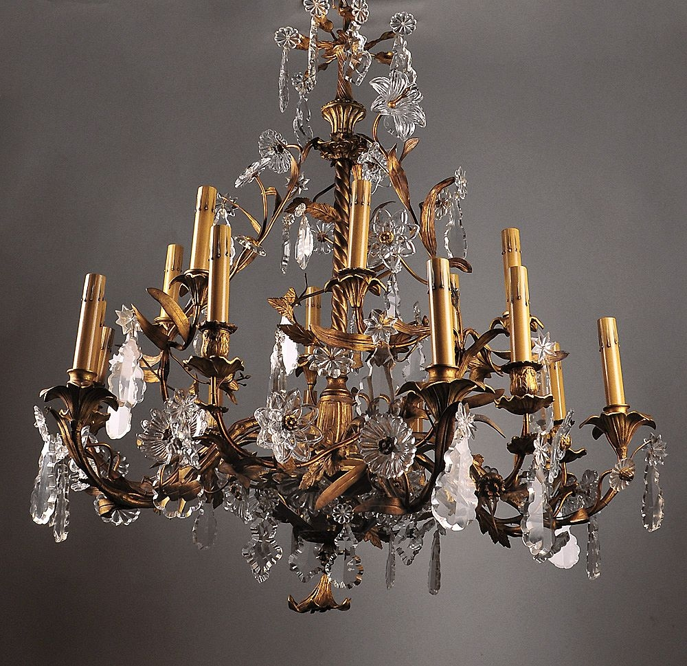 Featured Image of Large Bronze Chandelier