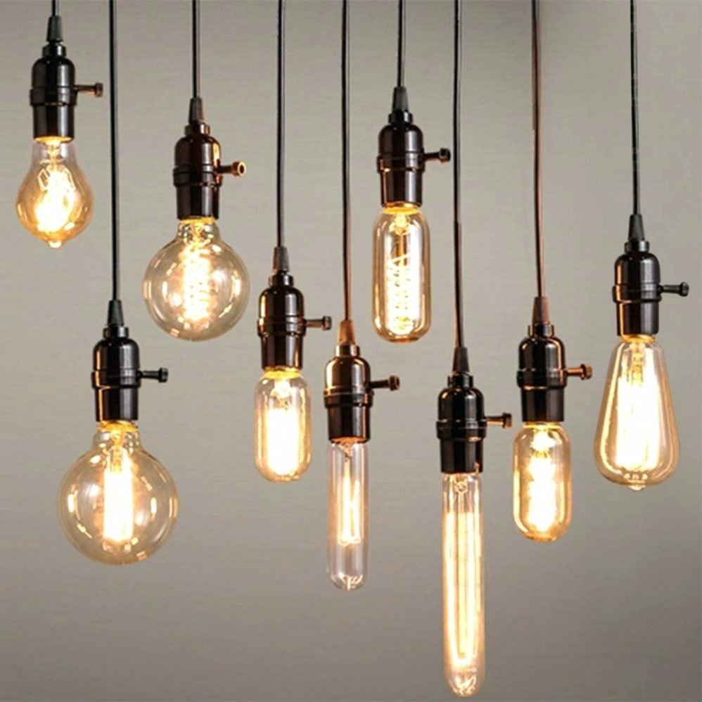 Chandelier Canvas Art Urban Industrial Chandelier Edison Bulb Intended For Ultra Modern Chandelier (Image 2 of 15)