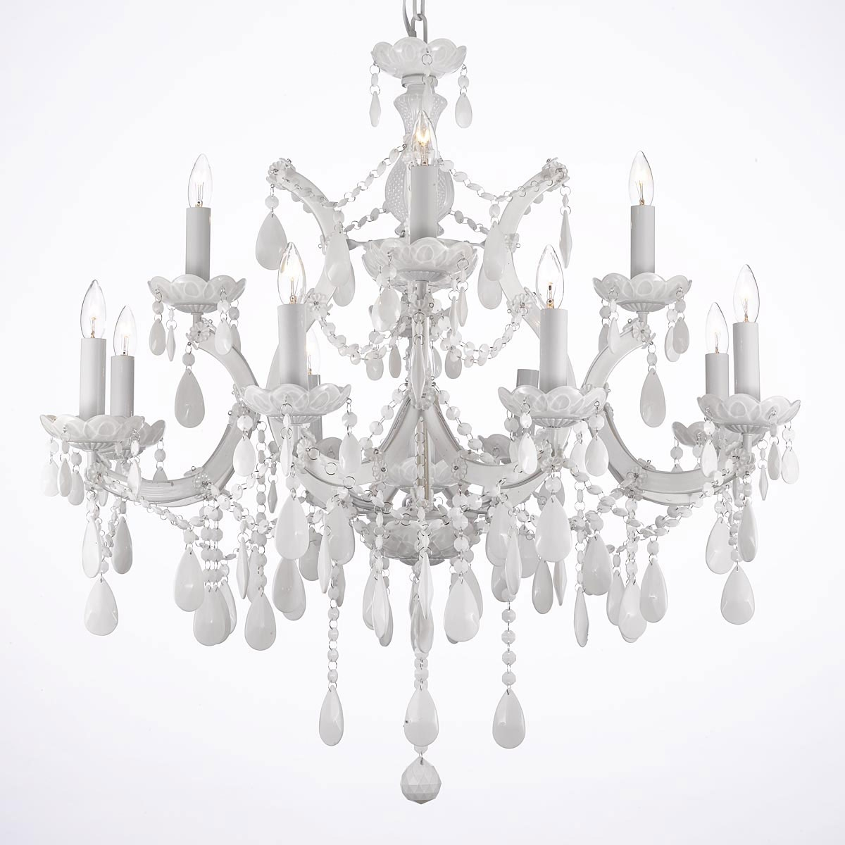 Chandelier Chandeliers Crystal Chandelier Crystal Chandeliers Pertaining To White Chandelier (Image 4 of 15)