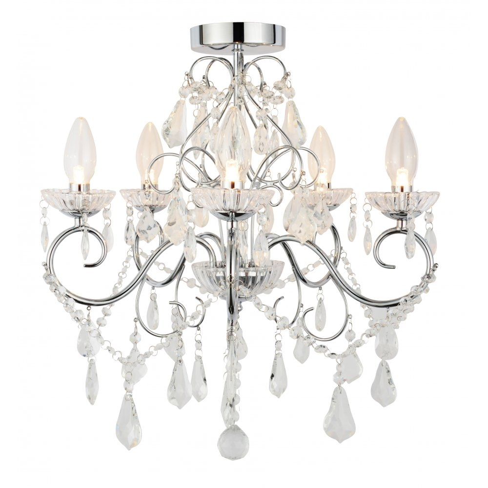 Chandelier For Bathroom Uk Creative Bathroom Decoration Throughout Flush Fitting Chandelier (Image 6 of 15)