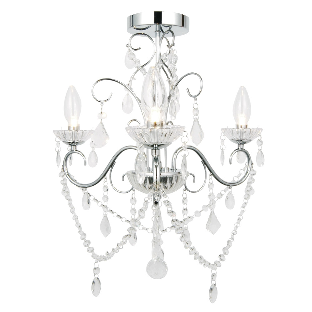 Chandelier For Bathroom Uk Creative Bathroom Decoration With Flush Fitting Chandelier (Image 7 of 15)