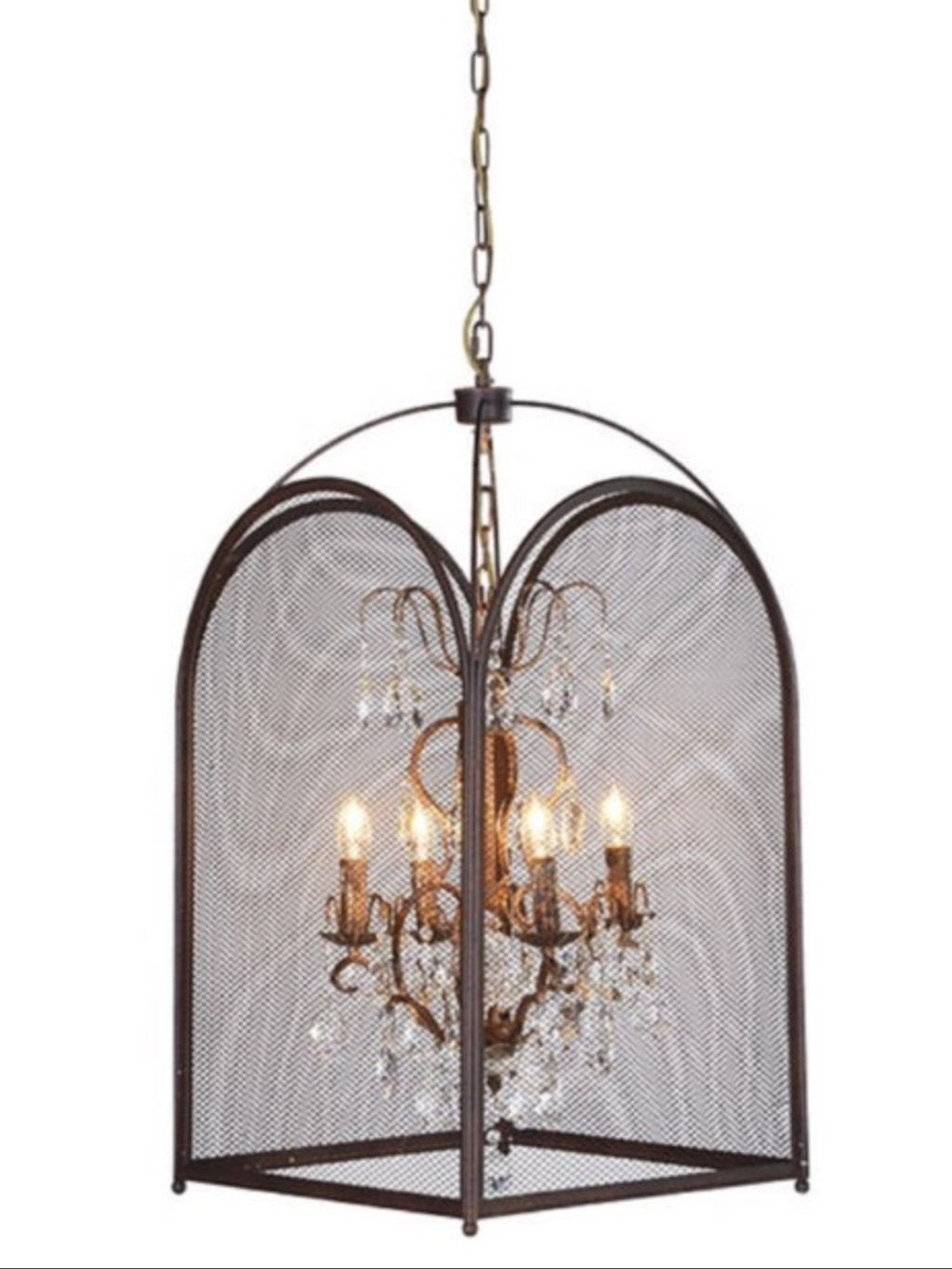 Chandelier Glamorous Caged Chandelier Trellis Cage Chandelier Regarding Cage Chandeliers (Image 6 of 15)
