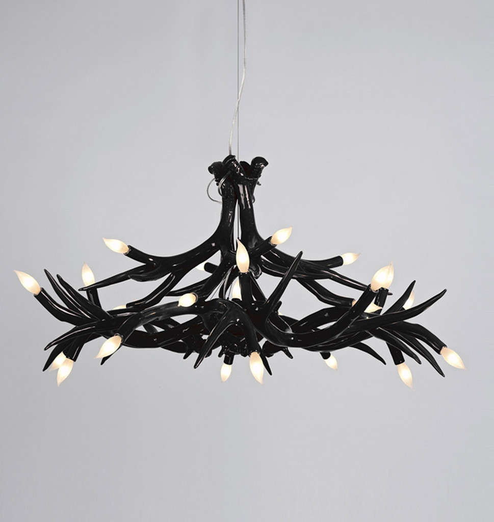 Featured Image of Contemporary Black Chandelier