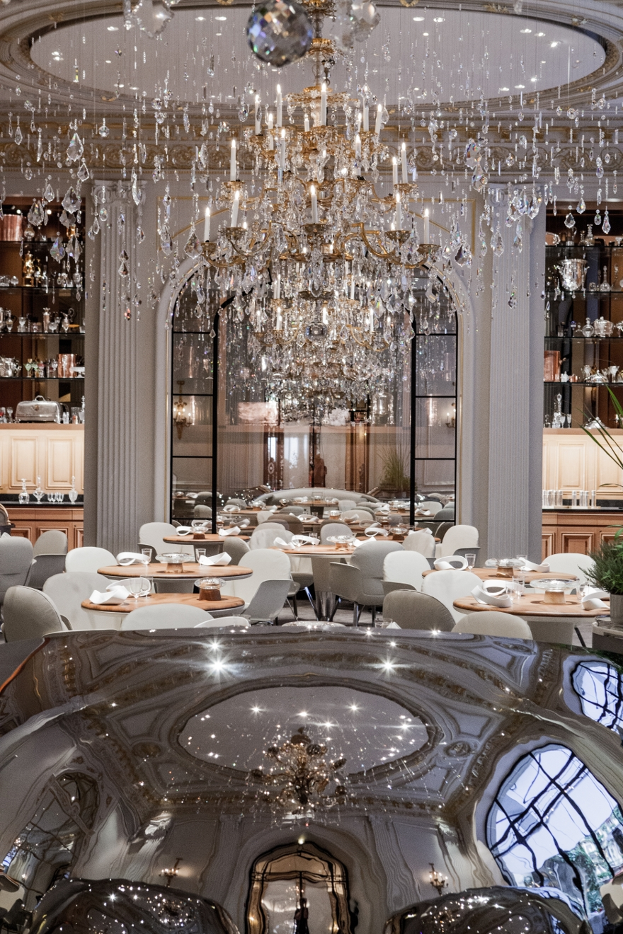 Chandelier Hotel Plaza Athenee Restaurant Neo Classical Style Intended For Restaurant Chandelier (Image 3 of 15)