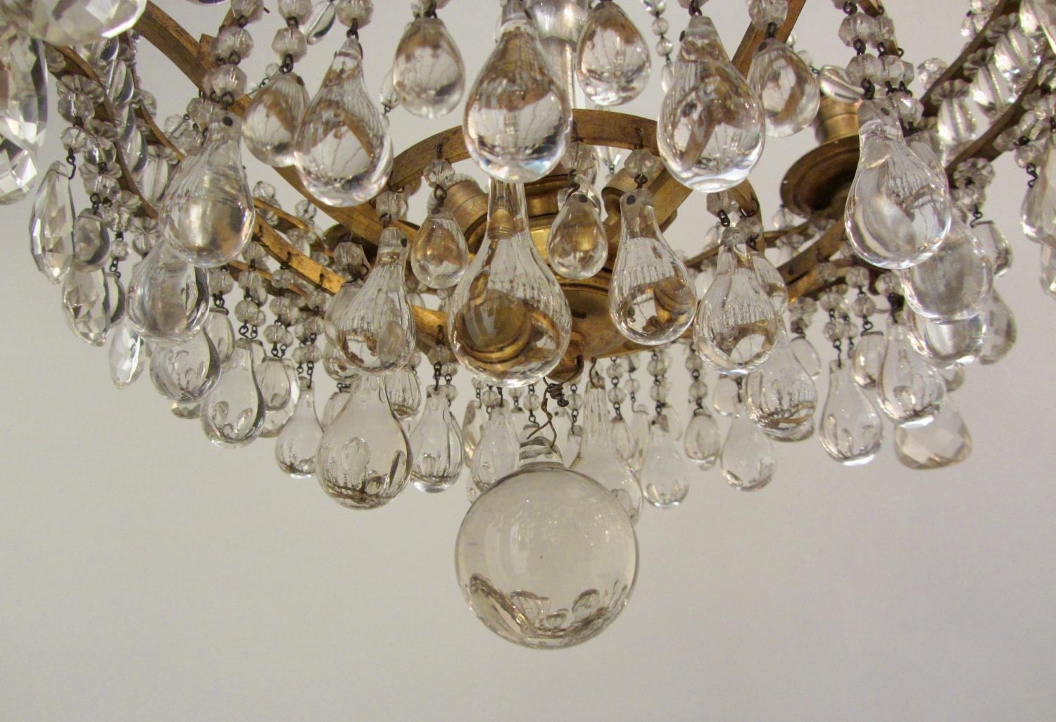 Chandelier Ideas An Unusual Gilt Brass And Crystal Chandelier In Intended For Unusual Chandeliers (Image 4 of 15)
