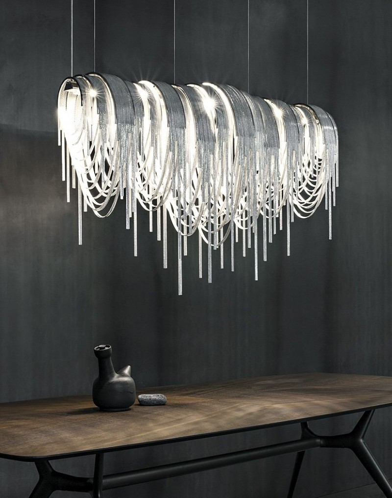 Chandelier Inspiring Chandelier Contemporary Wayfair Lighting Intended For Long Chandelier Light (Image 7 of 15)