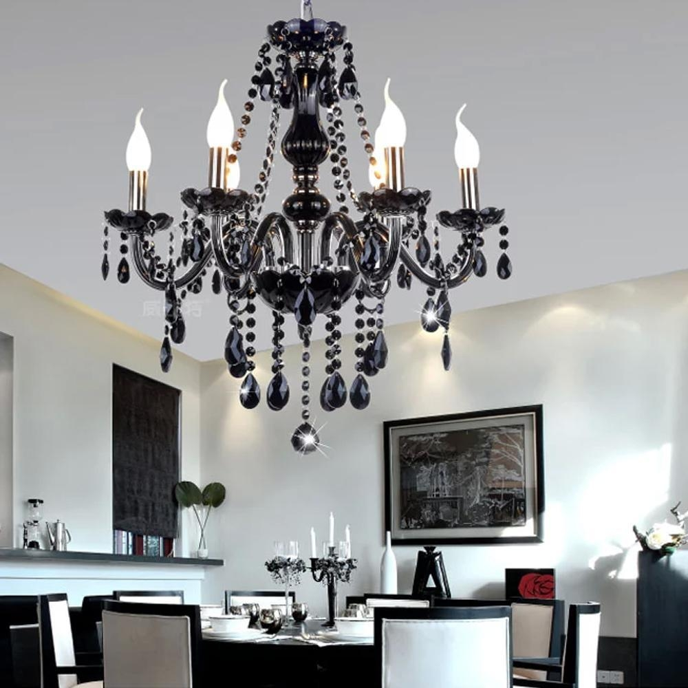 Chandelier Interesting Black Modern Chandelier Contemporary In Modern Black Chandelier (Image 5 of 15)