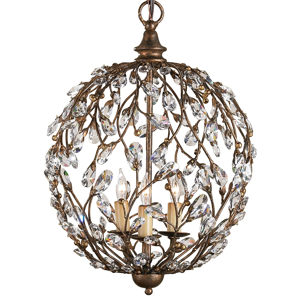 Chandelier Interesting Crystal Sphere Chandelier Cheap With Regard To Sphere Chandelier (Image 7 of 15)
