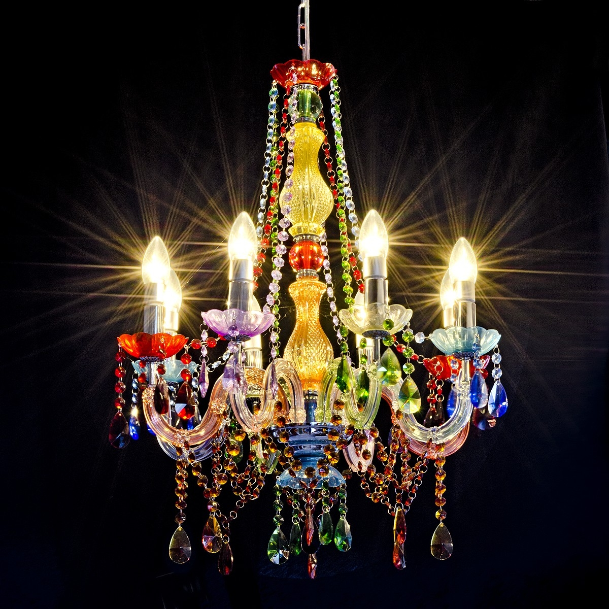 Chandelier Stunning Dining Room Crystal Chandeliers Vintage Inside Coloured Chandeliers (Image 6 of 15)