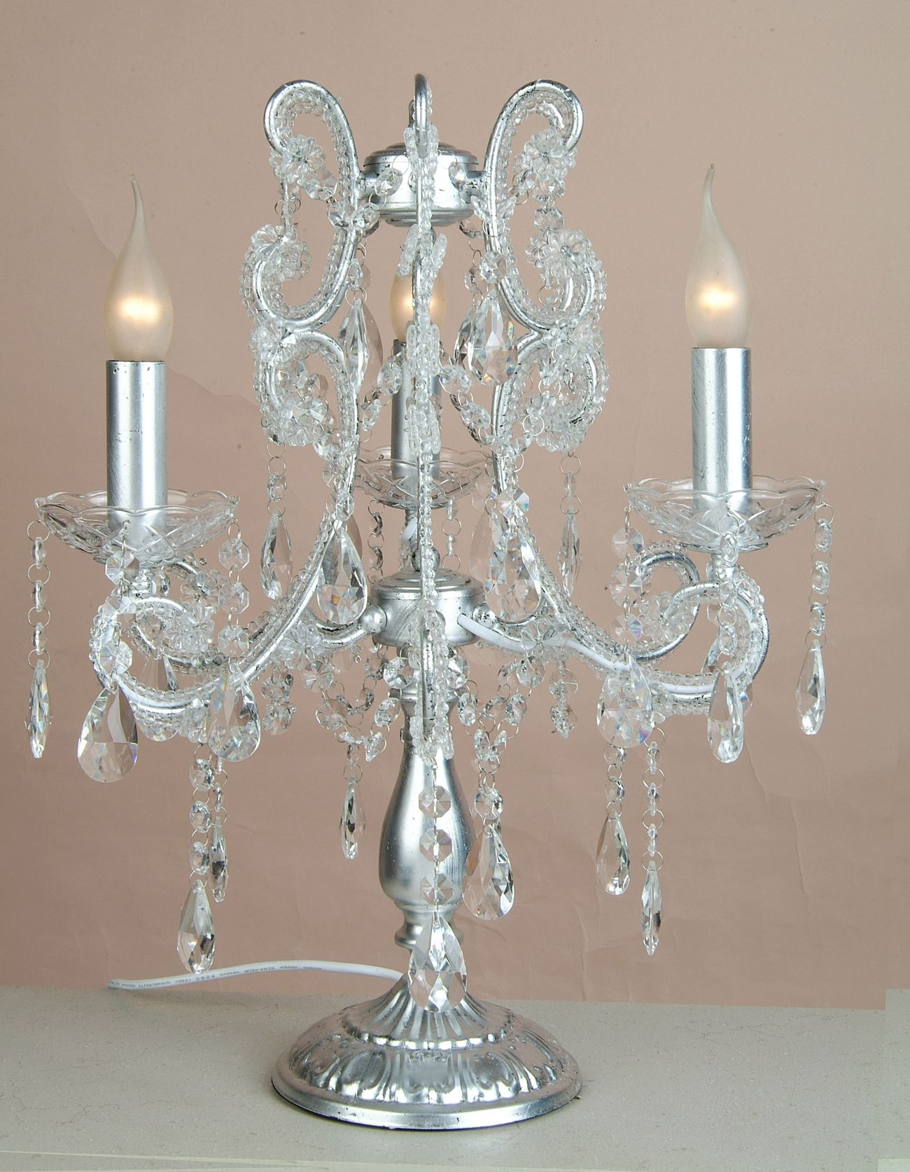 Chandelier Table Lamps Uk Roselawnlutheran With Regard To Table Chandeliers (View 2 of 15)