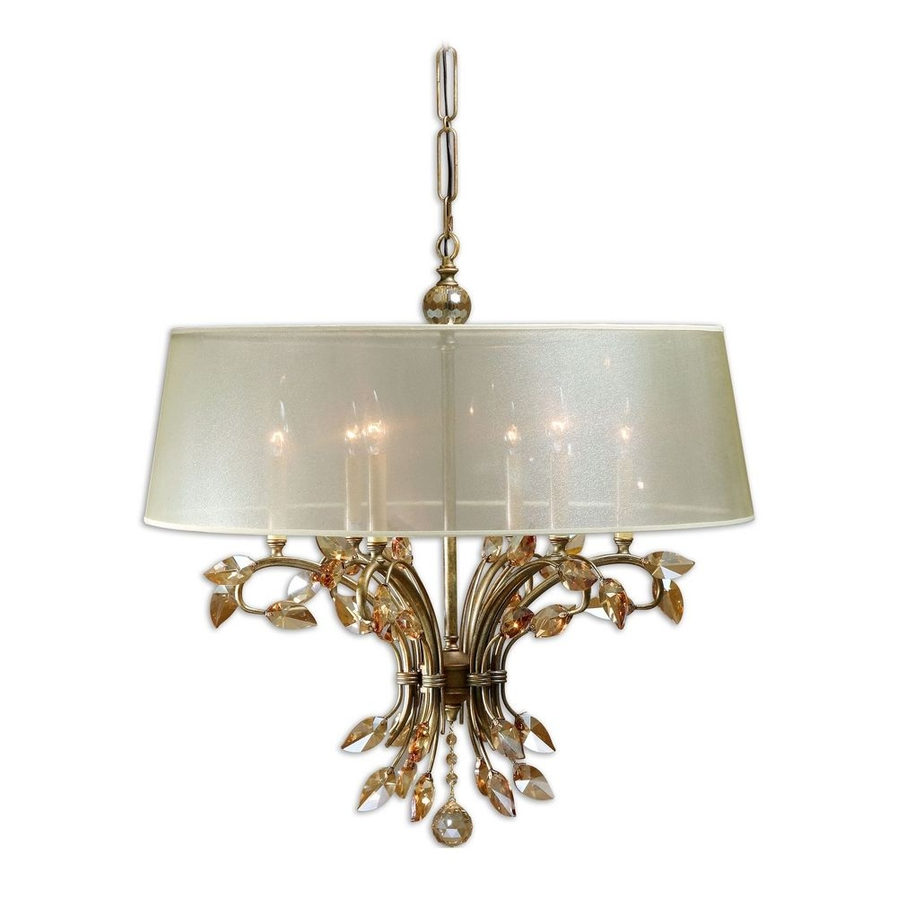 Featured Image of Cream Gold Chandelier